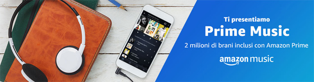 Amazon Prime Music, 2 milioni di brani musicali gratis per i clienti Amazon Prime