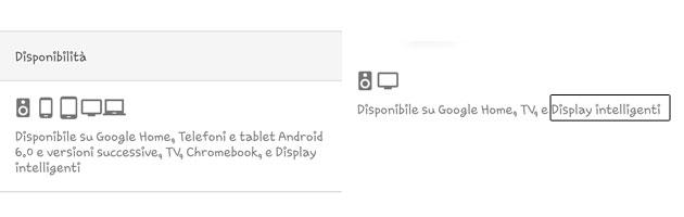 Il supporto per Display Intelligenti nelle Impostazioni di Google Assistente