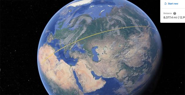 Google Earth consente di misurare distanze e aree su Android, iOS e Chrome