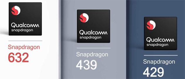 Qualcomm annuncia Snapdragon 632, 439 e 429
