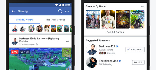Facebook investe sui creatori di contenuti appassionati di videogiochi