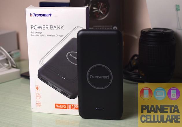 Recensione Tronsmart AirAmp, batteria portatile con ricarica senza fili