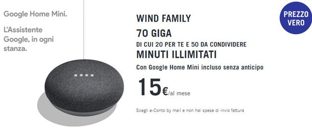 Wind Family, fino a 70 Giga di internet di cui 50 da condividere