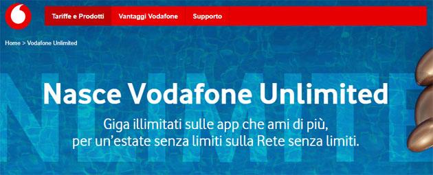 Vodafone Unlimited: minuti, fino a 10 giga e navigazione inclusa nelle app di Chat, Mappe, Social e Musica