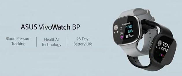 Asus VivoWatch BP, wearable con rilevatore della pressione sanguigna