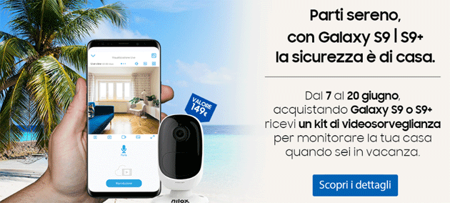 Foto Galaxy S9 da Unieuro regala Nilox Smart Security, kit di sorveglianza