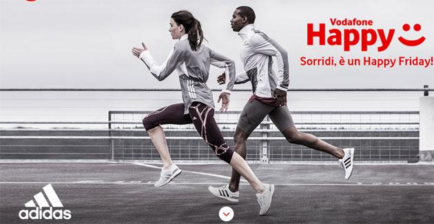 Vodafone Happy Friday il 15 giugno regala sconto Adidas del 20 per cento