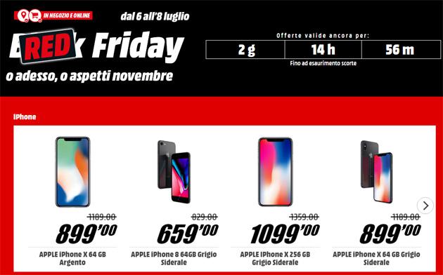 MediaWorld RED Friday: gli smartphone a prezzo scontato e altre offerte