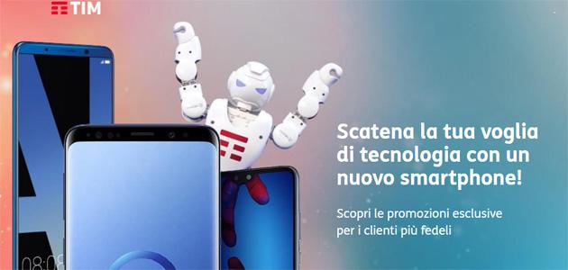 TIM, smartphone a rate con prezzo esclusivo per i clienti da oltre un anno