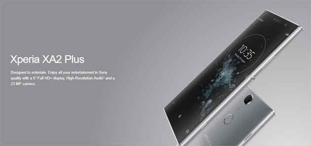 Xperia XA2 Plus, primo smartphone Sony di fascia media con audio Hi-Res e DSEE HX