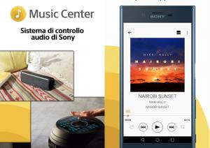 App Sony Music Center solo su Android 5.0 o superiore
