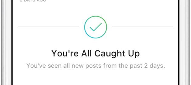 Instagram informa quando tutti i post recenti sono stati visti nel feed personale