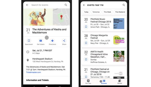 Google rinnova gli eventi nella ricerca aggiungendo nuove funzioni