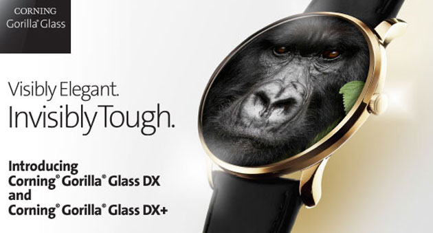 Corning introduce Gorilla Glass DX e DXplus per wearable