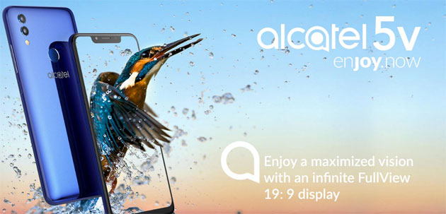 Foto Alcatel 5V con display FullView, notch, doppia fotocamera, batteria da 4000 mAh in Italia