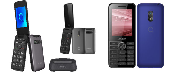 Foto Alcatel 3026, 3025 e 2003 tre semplici feature phone per ogni eta'