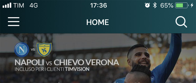 Su TIMvision le amichevoli estive 2018 del Napoli, anche su smartphone e tablet in streaming