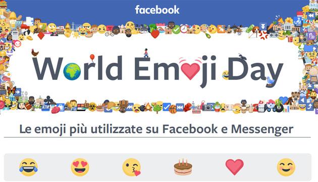 Facebook per la Giornata Internazionale delle Emoji 2018