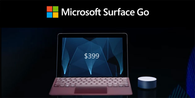 Foto Surface Go, primo tablet Surface economico