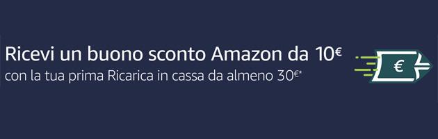 Amazon Ricarica regala 10 euro in buono sconto: come riceverlo