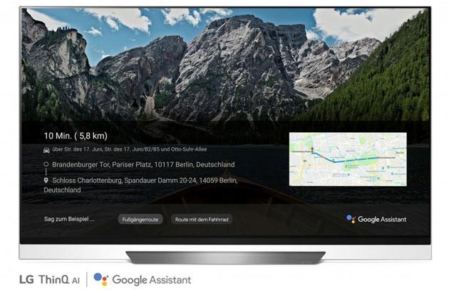 Google Assistant sui TV LG premium serie 2018