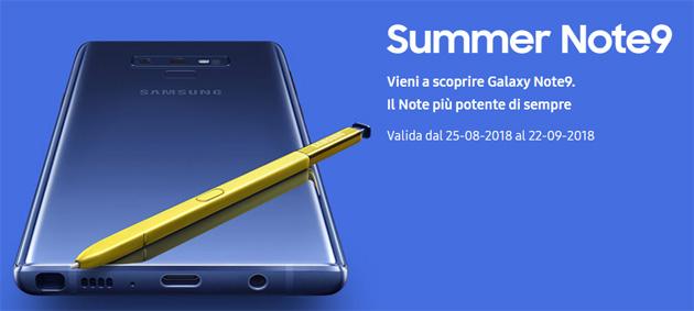 Samsung Galaxy Note9 in tour presso punti vendita selezionati