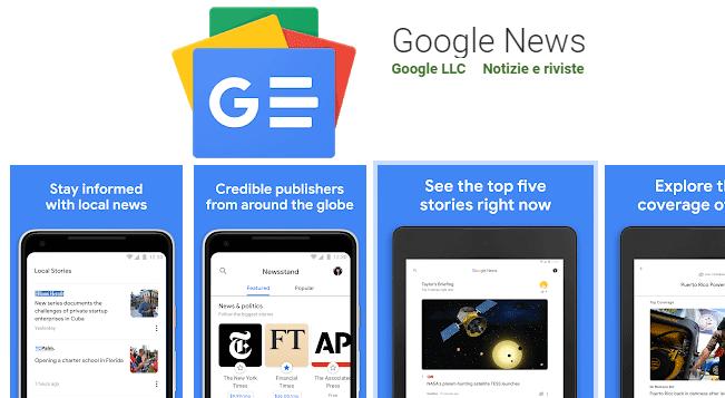 Google Play Edicola diventa Google News