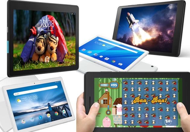 Lenovo annuncia i tablet Tab E7 con Android Go e E8, E10, M10, P10 da condividere in famiglia