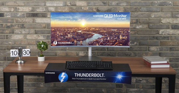 Samsung CJ791, primo monitor curvo QLED con Thunderbolt 3