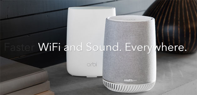 Netgear Orbi Voice, altoparlante smart con Amazon Alexa, WiFi mesh e audio premium Harman Kardon