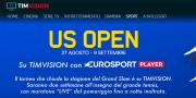 Foto US Open 2018 su Eurosport Player, anche con TIMvision