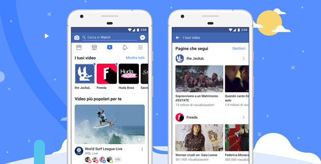 Facebook Watch per scoprire nuovi video disponibile in Italia