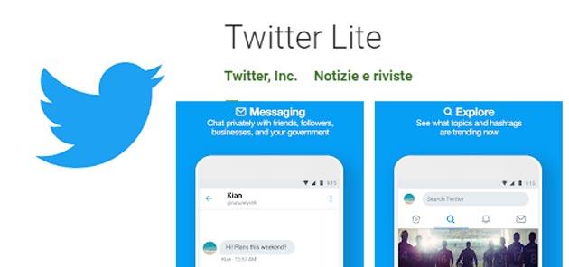 Twitter Lite disponibile in oltre 45 Paesi nel Google Play Store