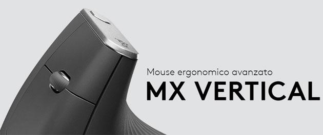 Logitech MX Vertical, mouse verticale che migliora postura e riduce tensione muscolare