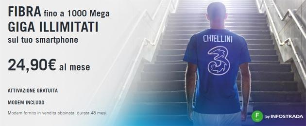 3Fiber al 20 agosto: Fisso e Mobile con giga senza limiti da 24,90 euro