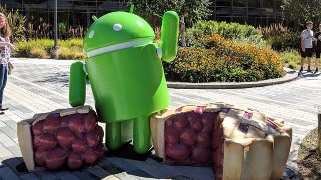 Android 9 Pie, logo ufficiale e foto della statua al Googleplex