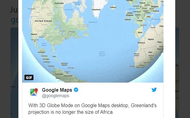 Google Maps ora mostra la Terra in 3D e non piatta