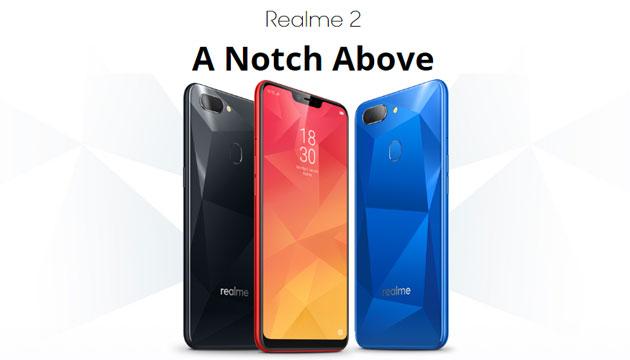 Oppo Realme 2, Realme 2 Pro e Realme C1 ufficiali