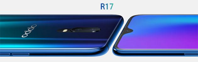 Oppo R17 con lettore impronte digitali UD e R17 Pro con tripla fotocamera e due batterie ufficiali