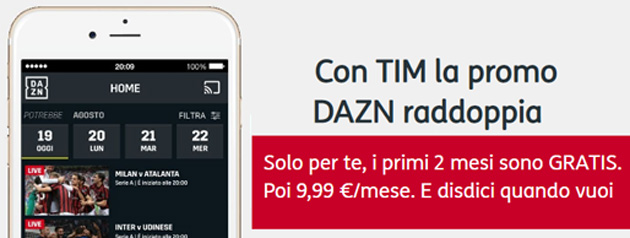 TIM Party regala 2 mesi di DAZN