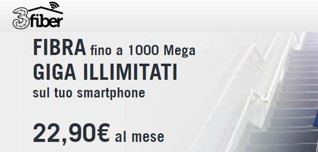 3Fiber al 27 agosto: Fisso e Mobile con giga senza limiti da 22,90 euro
