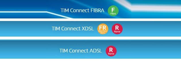 TIM Connect: nuove offerte Fibra, Xdsl e Adsl chiare sul tipo di tecnologia grazie ai bollini Agcom