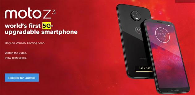 Motorola Moto Z3, primo smartphone aggiornabile al 5G, e Z3 Play ufficiali: Specifiche, Foto, Video e Prezzi