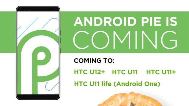 HTC: Android 9 Pie su alcuni telefoni esistenti