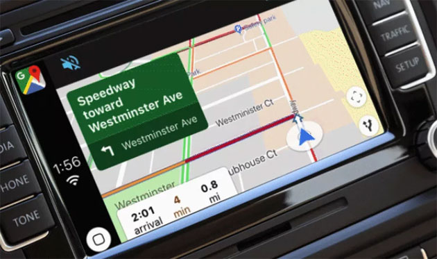 Foto Google Maps in Apple CarPlay grazie a iOS 12