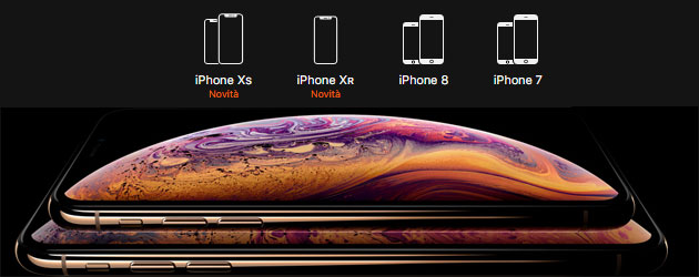 Foto Display di iPhone Xs, Xs Max e Xr a confronto con i modelli precedenti