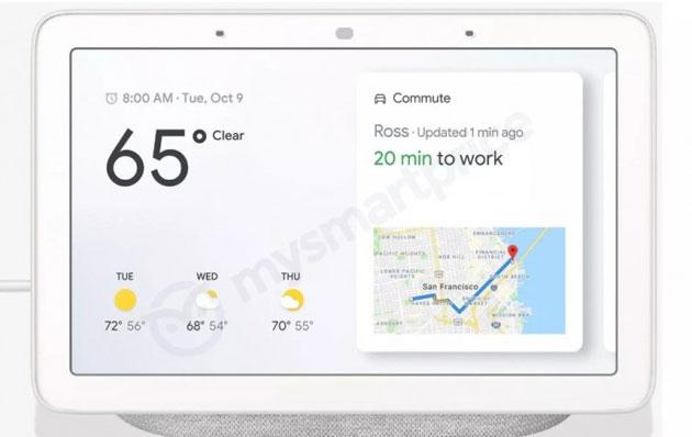 Google Home Hub, svelato il primo Smart Display Google con Assistente atteso il 9 ottobre
