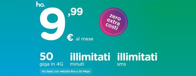 Ho.Mobile lancia terza offerta da 9,99 euro con 50 giga, SMS e minuti illimitati. Seconda offerta da 7,99 euro disponibile fino al 24 settembre