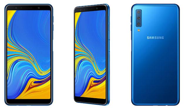 Samsung Galaxy A7 (2018) con tripla fotocamera posteriore in Italia da 349 euro