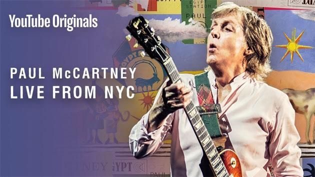 Paul McCartney in concerto in diretta su Youtube da NYC